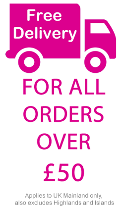 Free delivery for all orders over £50